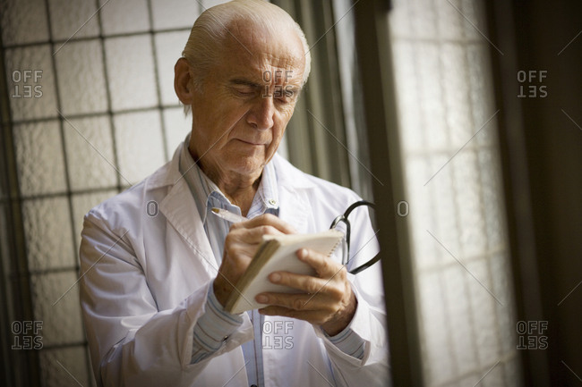 Portrait of a doctor at work.