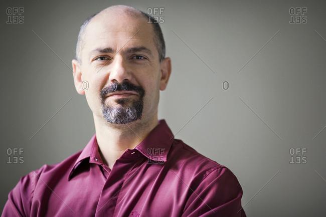 Portrait of a mature man.