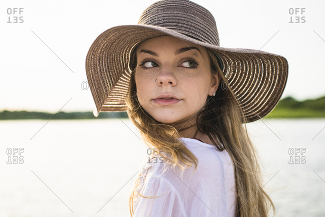 Young Girl at Beach at Golden Hour
