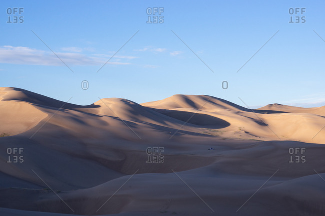 Morning Light in Desert while Camping Great Sand Dunes National Park