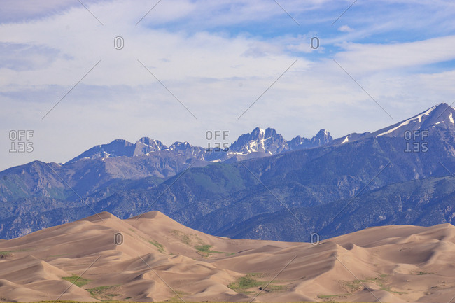 Rocky Mountains and Sand Dunes in Summer at national park