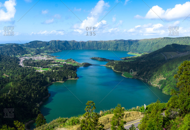 Lake of site cicadas of the azores islands, Portugal