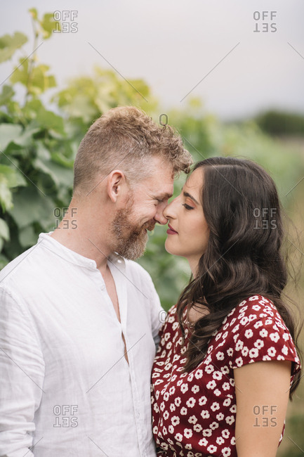 Couple in love in nature