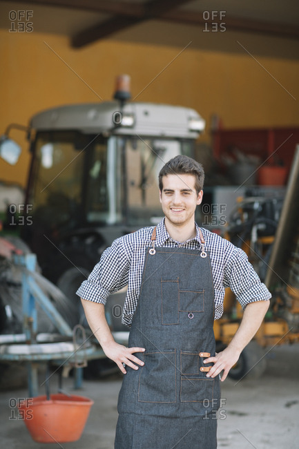 Portrait of confident young farmer
