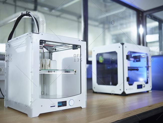 3D printer on table