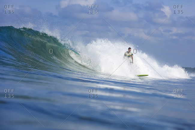 Surfer on a wave