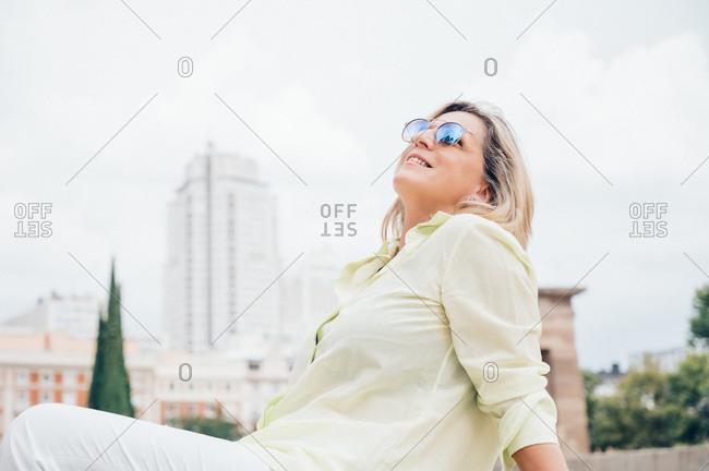 Senior woman enjoying the city