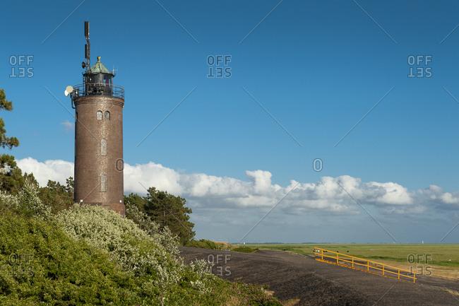 Germany- Schleswig-Holstein- Sankt Peter-Ording- Lighthouse in Sankt Peter-Boehl