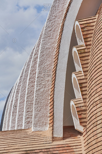 Detail of the Santo Isidro Church in Pegoes, Portugal