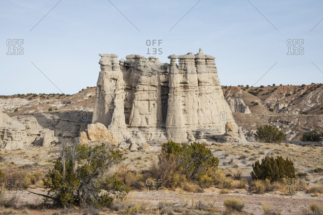 Plaza Blanca (also called the White Place) in the Rio Chama hills, New Mexico