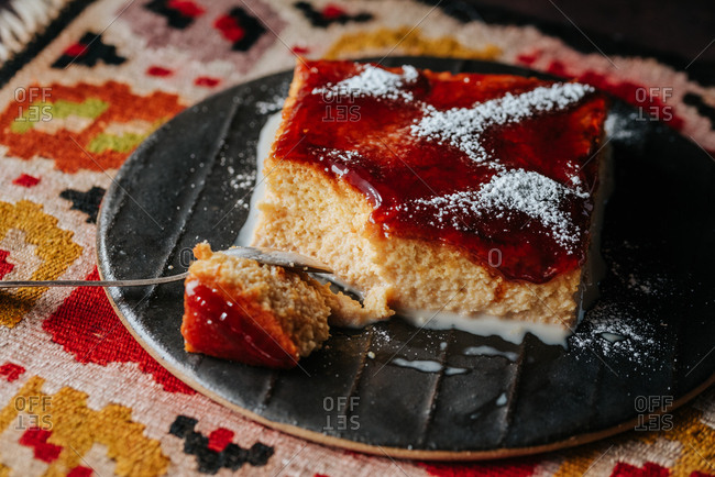 Traditional Macedonian tres leches cake