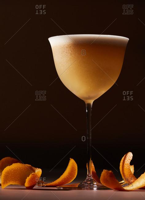 Orange cocktail with bourbon