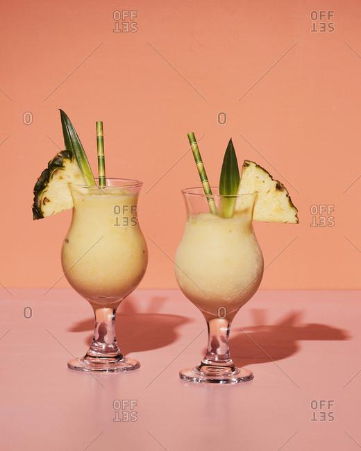 Refreshing pina coladas