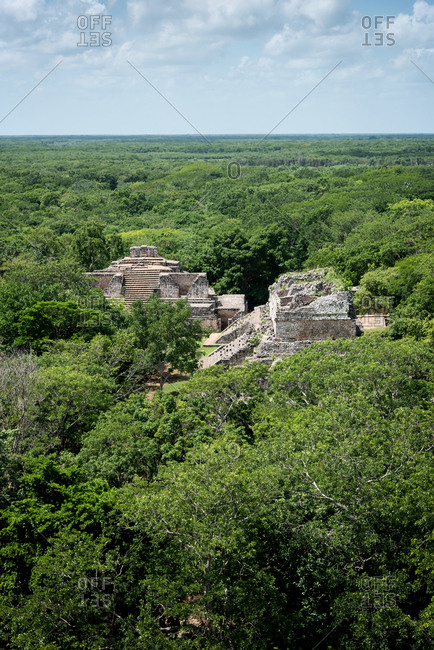 Ruins of the Mayan city of Ek Balam, Yucatan Peninsula, Mexico