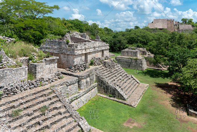 Ruins of the Mayan city of Ek Balam, Yucatan Peninsula, Mexico