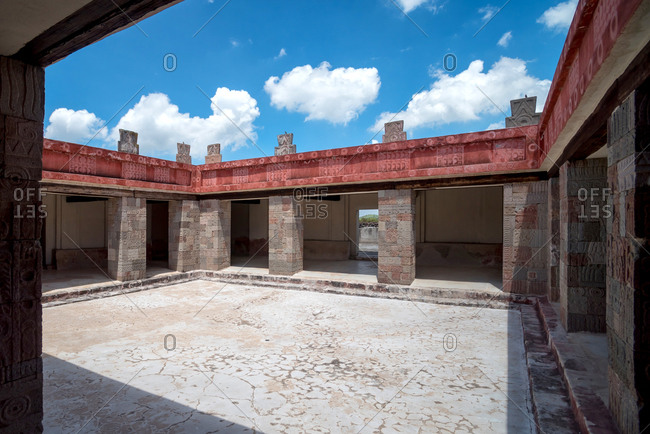 Inner courtyard of the Palace of Quetzal-Papalotl. Teotihuacan, Mexico