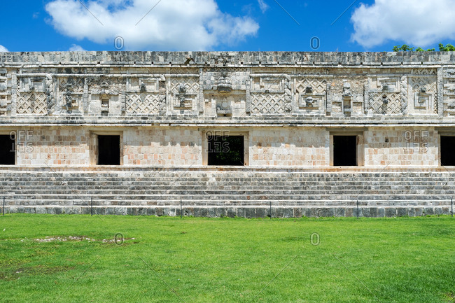 Quadrangle Of The Nuns. Ruins of Uxmal, Yucatan, Mexico