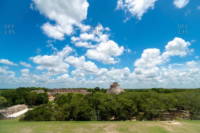 View of the Ruins of Uxmal. Yucatan, Mexico