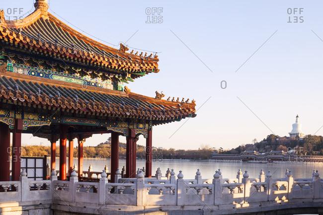 Beijing beihai park landscape