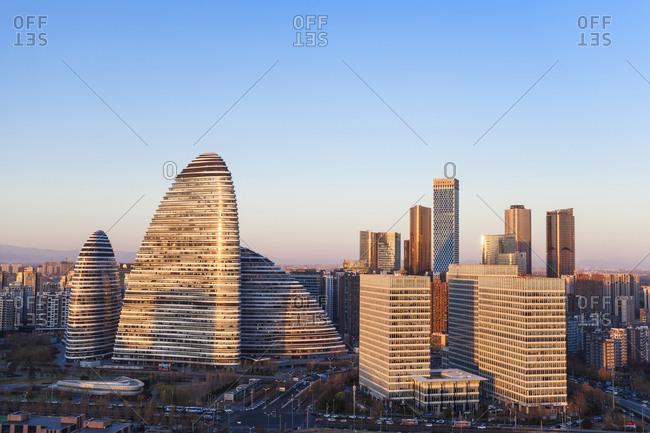 September 23, 2019: Beijing wangjing area landscape