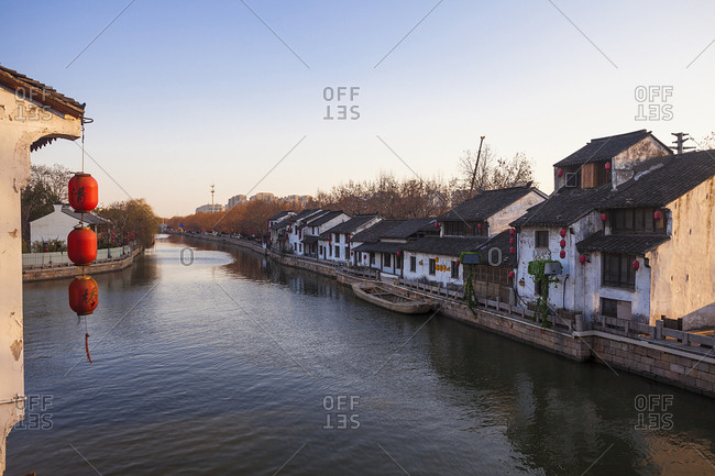 September 23, 2019: The ancient canal and ancient buildings