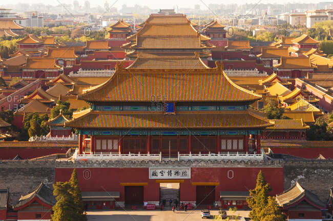 September 23, 2019: Beijing's Forbidden City landscape