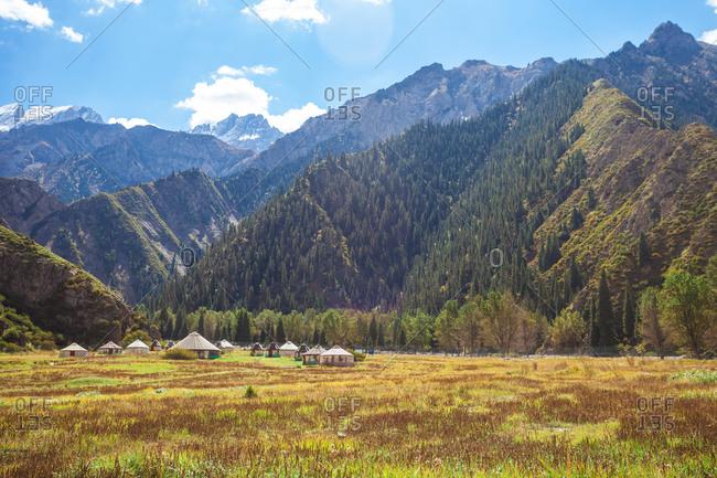 Xinjiang tianshan mountain scenery