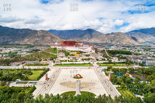September 23, 2019: The potala palace in Lhasa