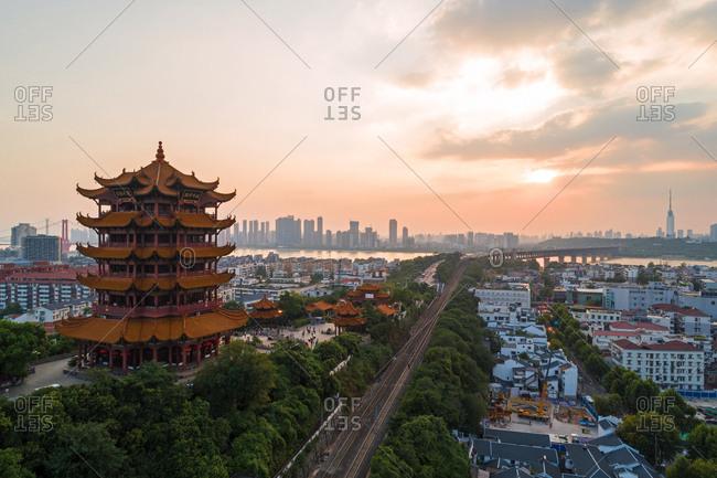 September 23, 2019: Wuhan yellow crane tower