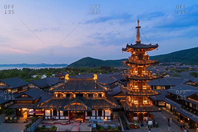 September 23, 2019: Wuxi gently bay scenic landscape