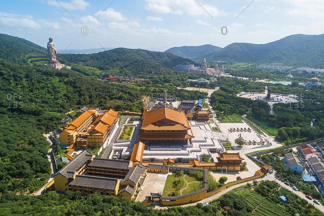 September 23, 2019: Wuxi lingshan scenic spot scenic landscape