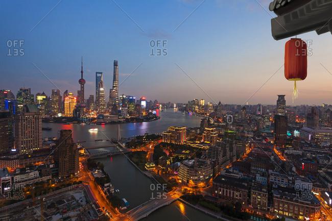 September 23, 2019: Shanghai at night