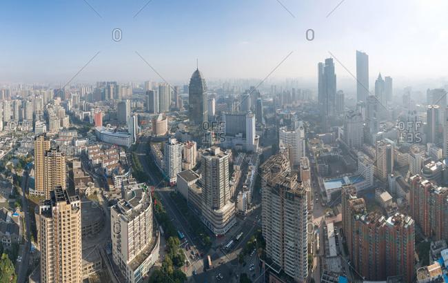 Aerial wuxi city center - Offset