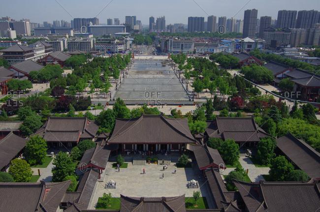 September 23, 2019: Have a bird's eye view of xi 'an city