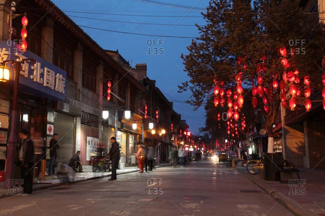 September 23, 2019: Xi 'an college door pedestrian street