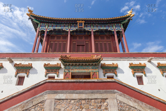 September 23, 2019: Beijing xiangshan park zhao temple