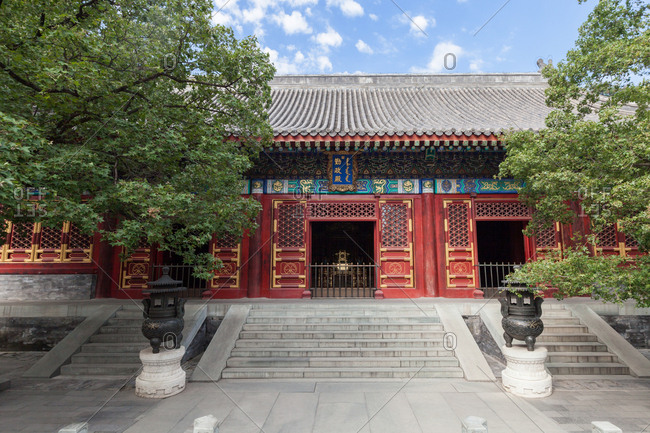 September 23, 2019: Beijing hall of diligent government in xiangshan park