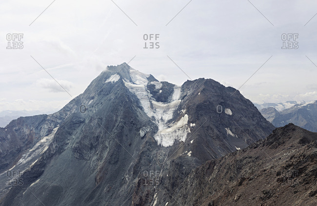 Pointe des Arandelieres mountain with glacier in France