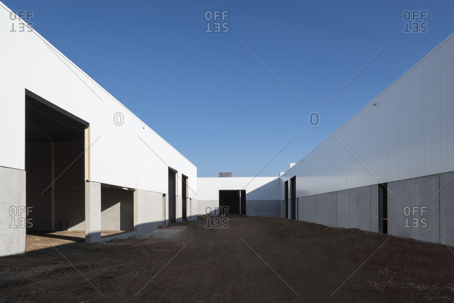 Industrial warehouse in mid-construction