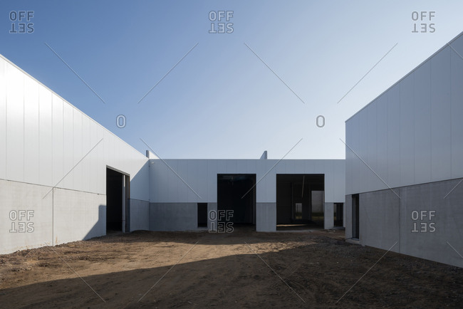 Industrial warehouse construction site