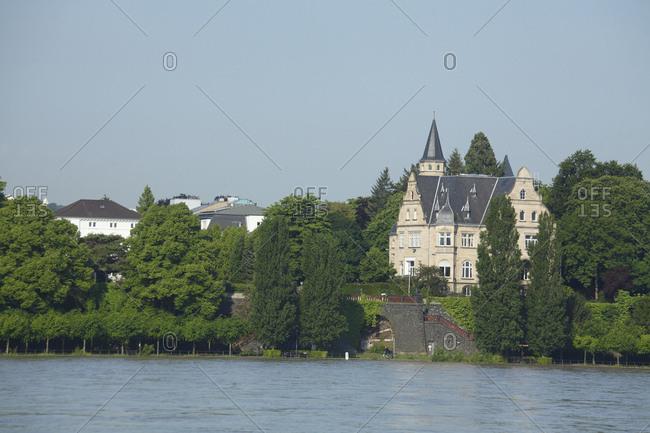 Villen, Rheinufer, Rhein, Bonn, Nordrhein-Westfalen, Deutschland, Europa