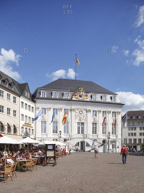 January 1, 1970: Old Town Hall, Marktplatz, Bonn, North Rhine-Westphalia, Germany, Europe