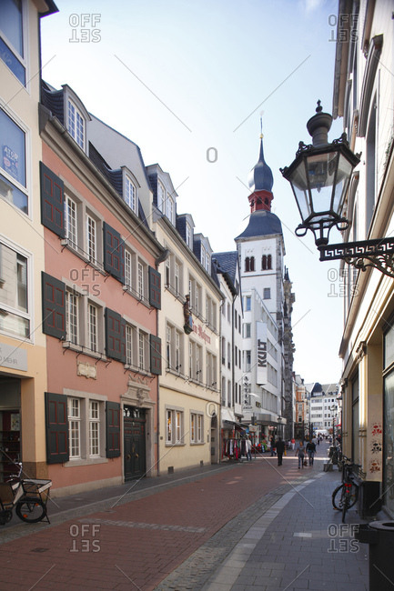 January 1, 1970: Bonngasse, Beethovenhaus, Episcopal Church of the Names-Jesu-Church, Bonn, North Rhine-Westphalia, Germany, Europe