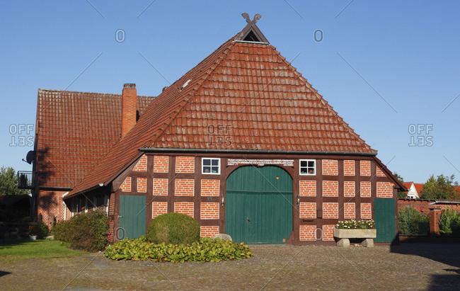 January 1, 1970: Achim : Fachwerkhaus, ehemaliges Niederschsisches Bauernhaus