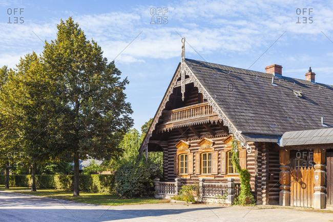 Deutschland, Brandenburg, Potsdam, Russische Kolonie Alexandrowka, Holzhuser, 1826-1827 erbaut, UNESECO Weltkulturerbe