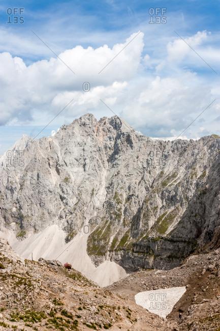Das Karwendel, Ausblick in die Berge der Alpen,