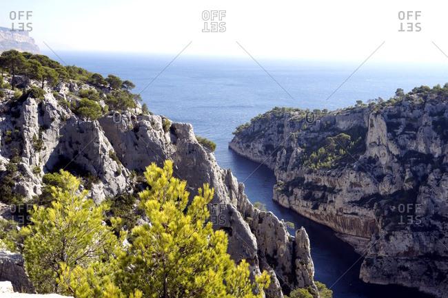 Europa, Frankreich, Provence-Alpes-Cote d'Azur, Bouches-du-Rhone, Marseille, Nationalpark Calanques, Calanque d'En-Vau