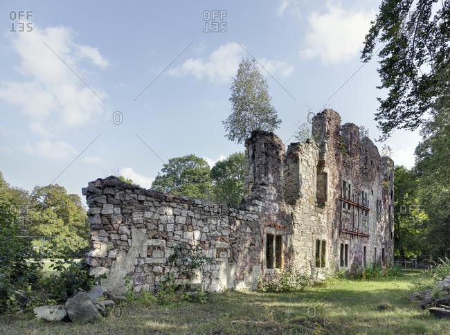 Deutschland, Thringen, Gehren, Ruine, Bume