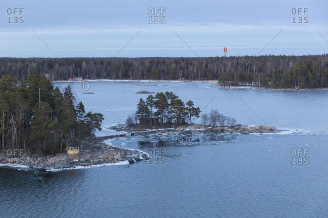 Finnland, Helsinki, Schreninsel im Winter