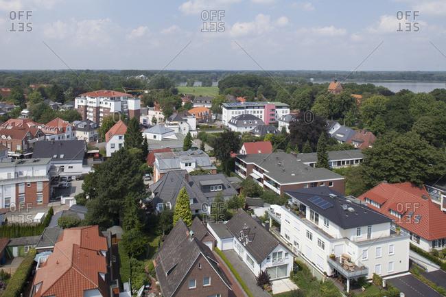 Deutschland, Niedersachsen, Bad Zwischenahn, Stadtansicht, Moderne Wohnhuser